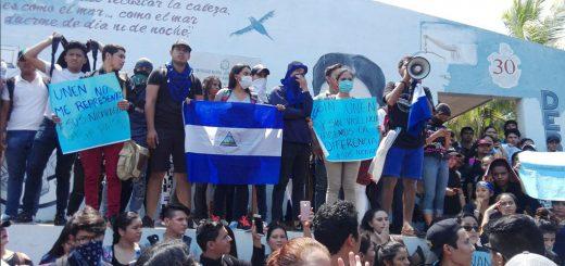 Protesta profesores Nicaragua